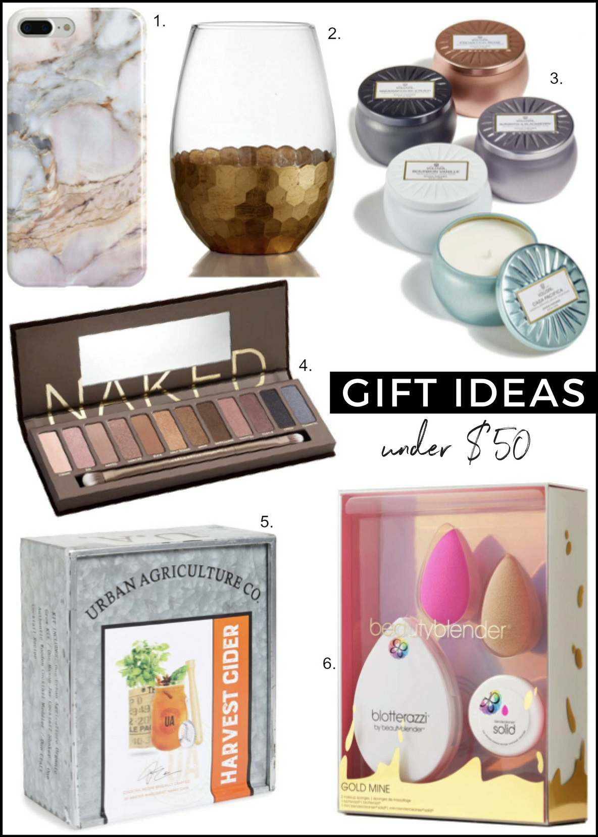 Christmas gift ideas under $50 beauty blender sale recover gemstone iphone vase urban decay naked eyeshadow palette sale 2