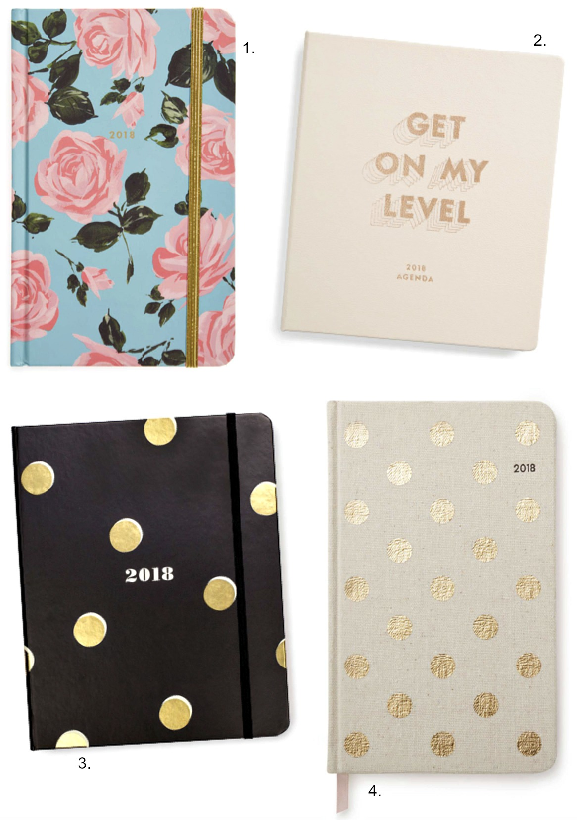 best 2018 planners ban.do agenda kate spade polka dot diary