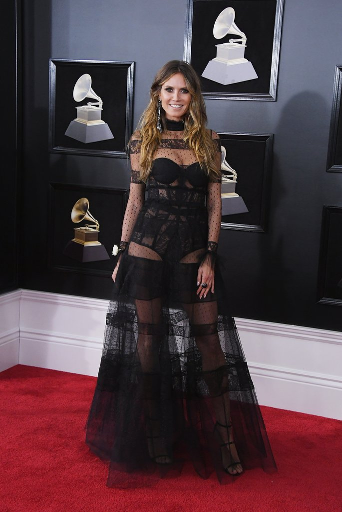 Heidi-Klum Grammy Awards Red Carpet Fashion 2018