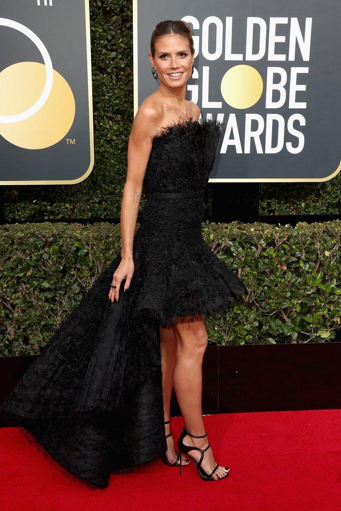 Heidi-Klum golden globes fashion 2018 hollywood blackout best dressed