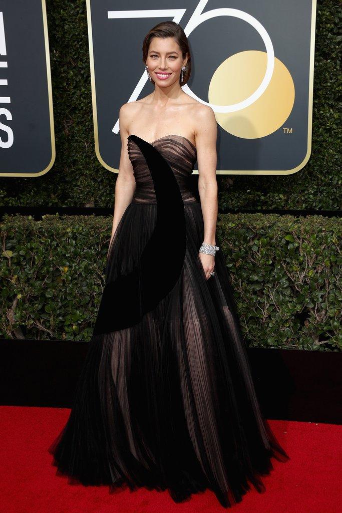 Jessica-Biel globes fashion 2018 hollywood blackout best dressed