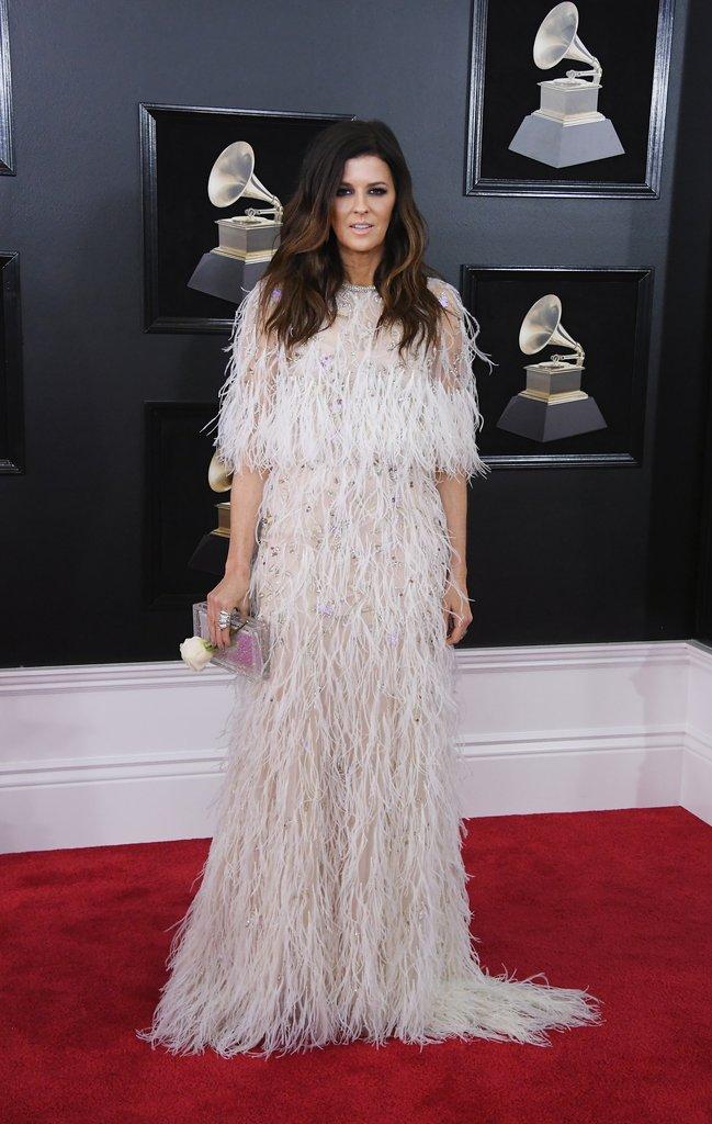 Karen-Fairchild Grammy Awards Red Carpet Fashion 2018
