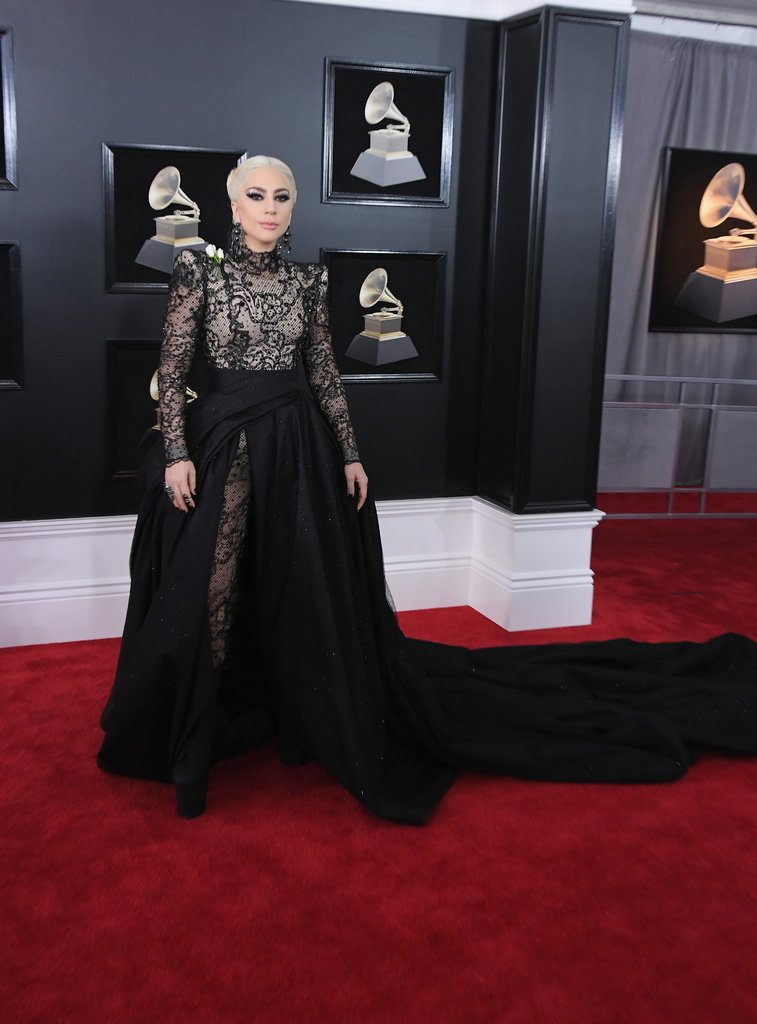 Lady-Gaga Grammy Awards Red Carpet Fashion 2018
