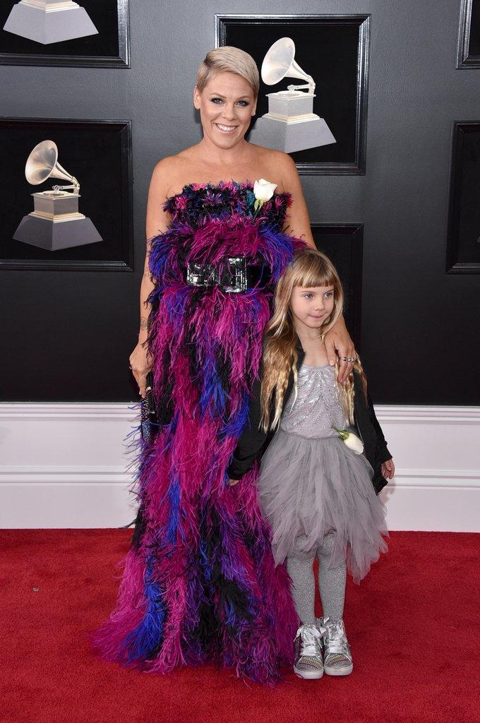 Pink Grammy Awards Red Carpet Fashion 2018