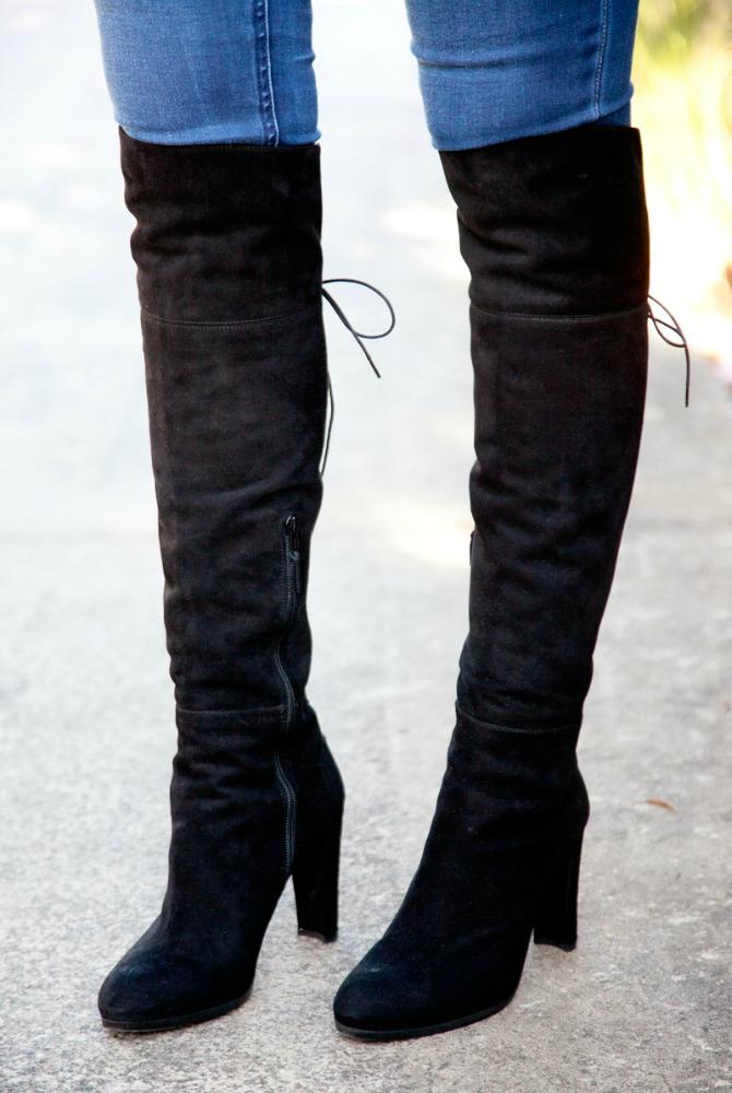 stuart weitzman highland best over the knee boots black suede