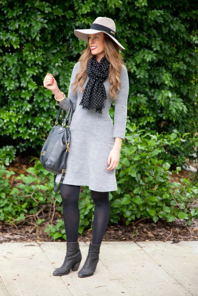 grey sweater dress outfit ideas fashion blogger style elixir lauren slade 2
