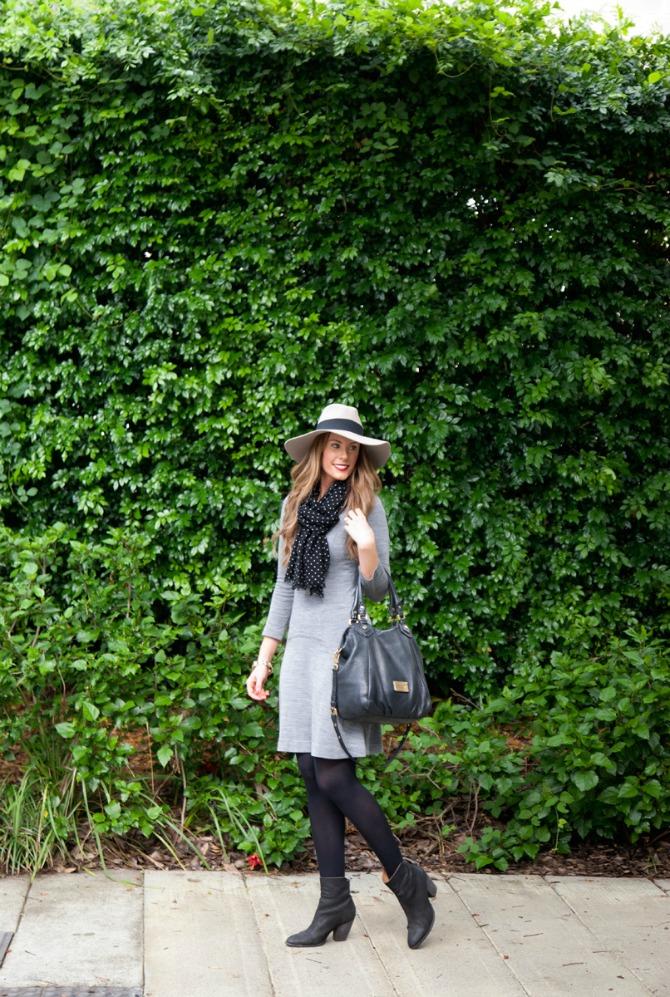 grey sweater dress outfit ideas fashion blogger style elixir lauren slade
