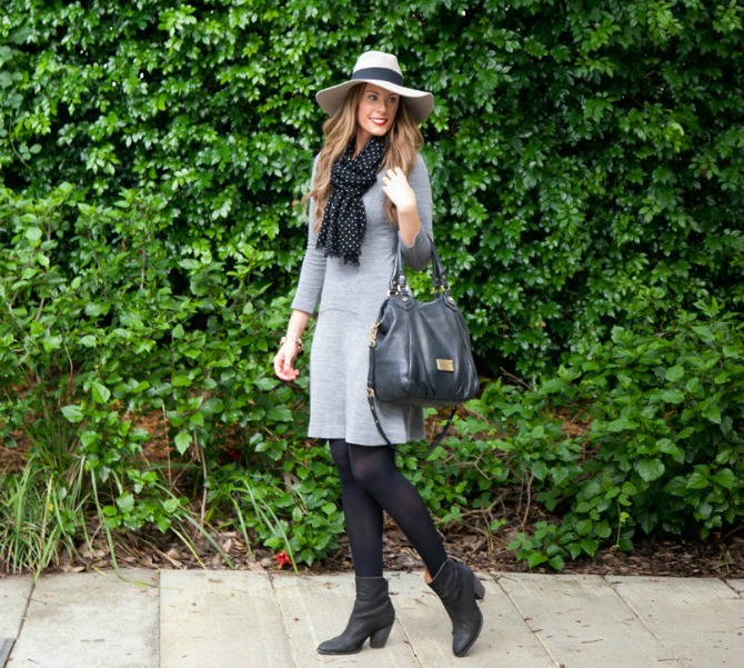 Style Sessions – Grey Sweater Dress Outfit