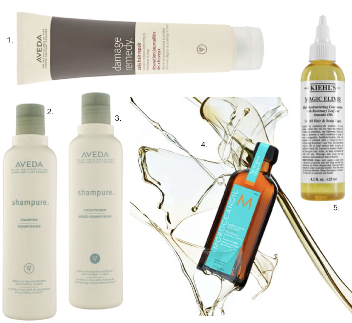 the best 5 hair care products for beautiful hair shiny soft moroccan oil review aveda shampure