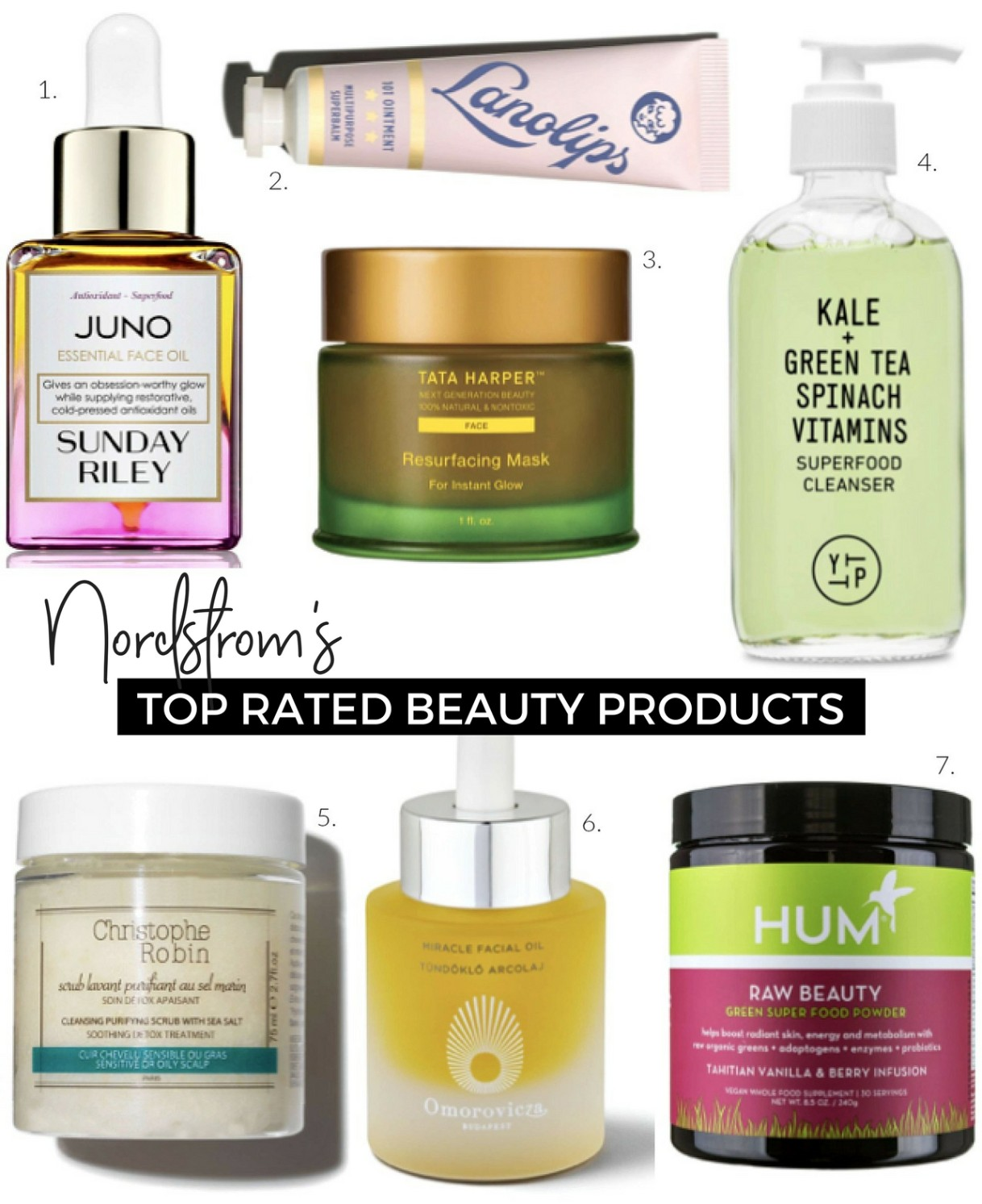 Nordtrom's Top Rated Beauty products five star reviews beauty blogger top picks