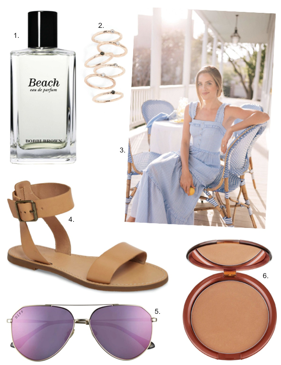 best spring fashion and beauty bobbi brown beach perfume review gal meets glam maxi dress diff x jessie james decker sunglasses