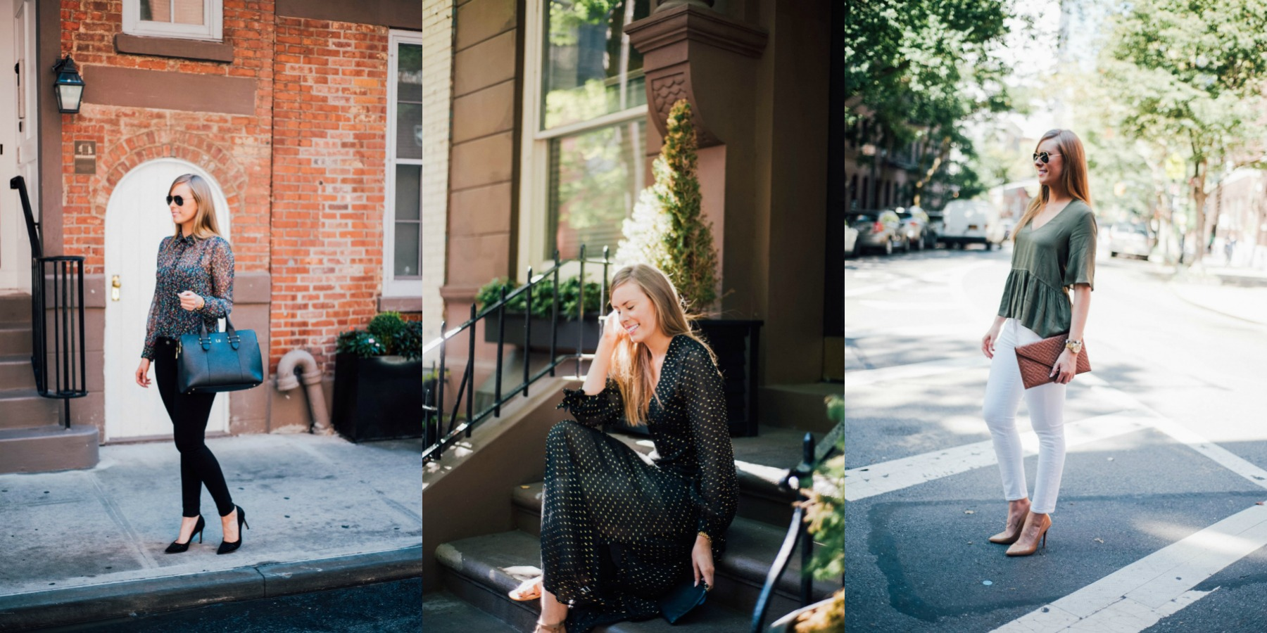 3 polished outfit ideas in the west village new york fashion blogger - Style Sessions: 3 Polished Outfit Ideas - Vote For Your Fave featured by popular international style blogger, Style Elixir