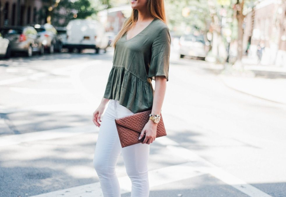 Style Sessions – White Jeans and Peplum Top in the West Village