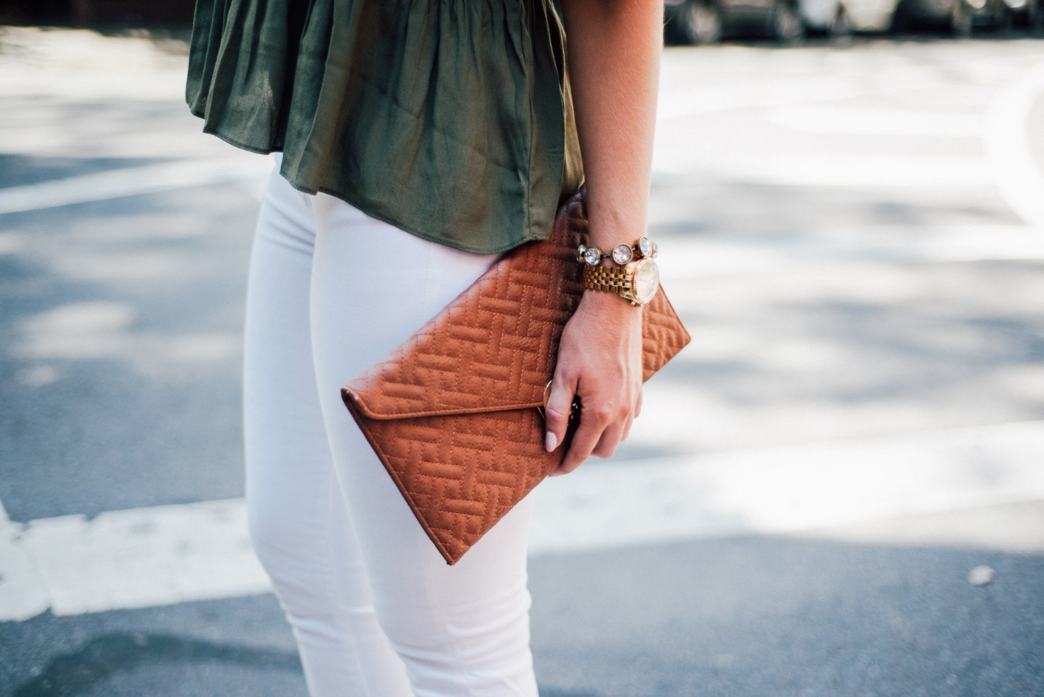 white jeans and peplum top west village fashion new york fashion blogger lauren slade style elixir blog spring outfit ideas 14 - Style Sessions - White Jeans and Peplum Top in the West Village featured by popular US style blogger, Style Elixir