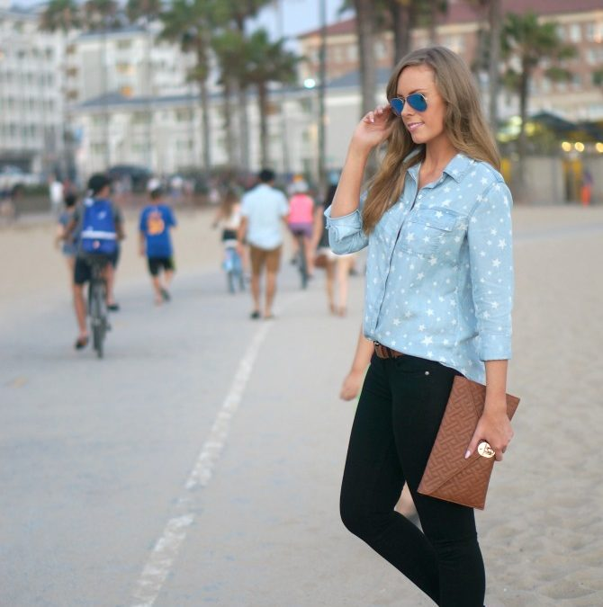 Style Sessions: 4th of July Outfit Idea – Star Chambray Shirt