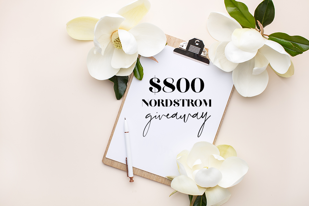 Nordstrom-Giveaway gift card fashion blogger | Win a $800 Nordstrom Gift Card featured by popular US fashion blogger Style Elixir