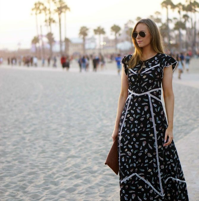 Style Sessions – Boho Maxi Dress on Santa Monica Beach