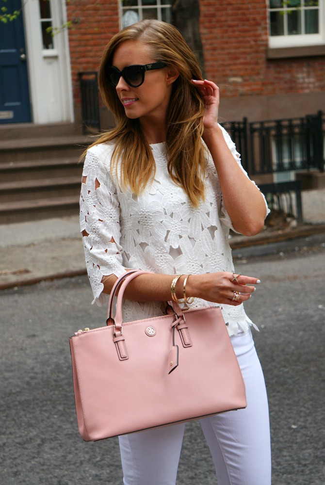 outfit ideas summer best white jeans j crew - Styling White on White in the West Village featured by popular international fashion blogger Style Elixir