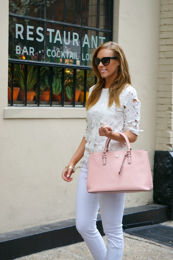 outfit ideas summer best white jeans j crew -| Styling White on White featured by popular US fashion blogger Style Elixir