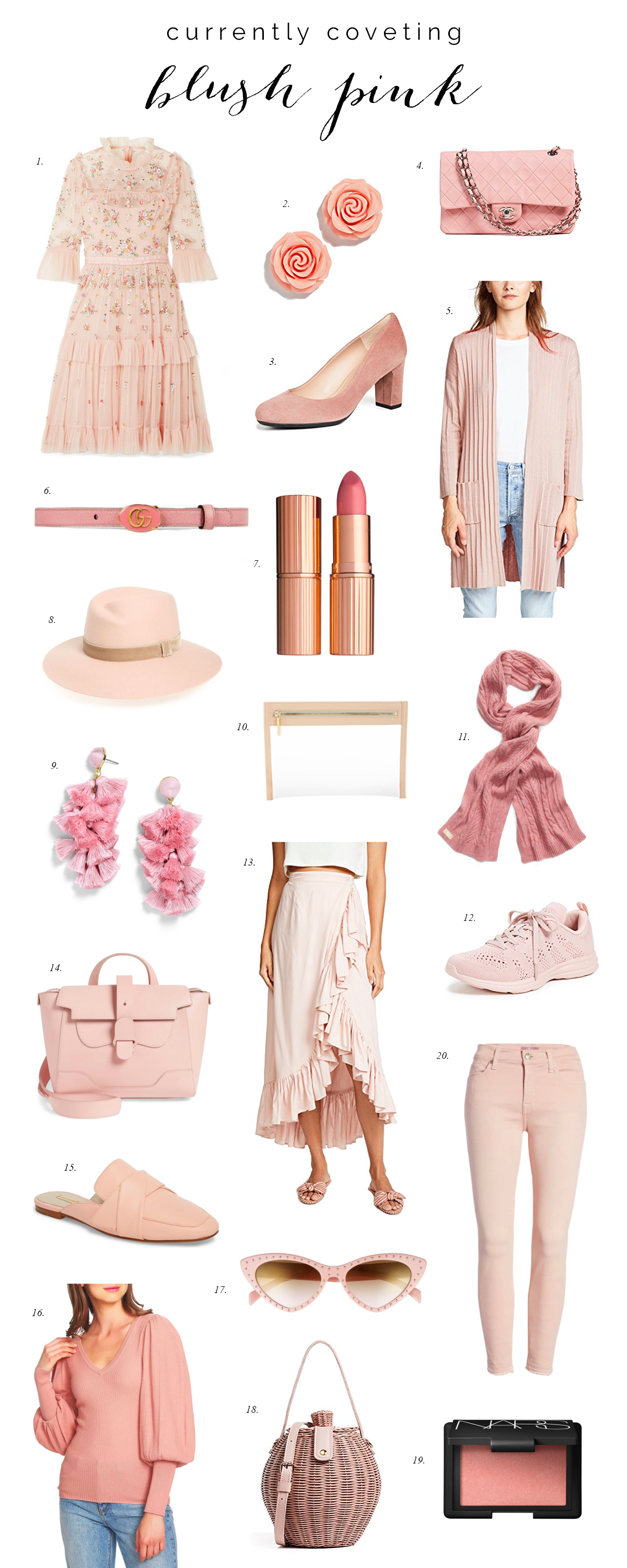 Currently Covet - Blush Pink Outfit Ideas color of the year most popular color trend pink