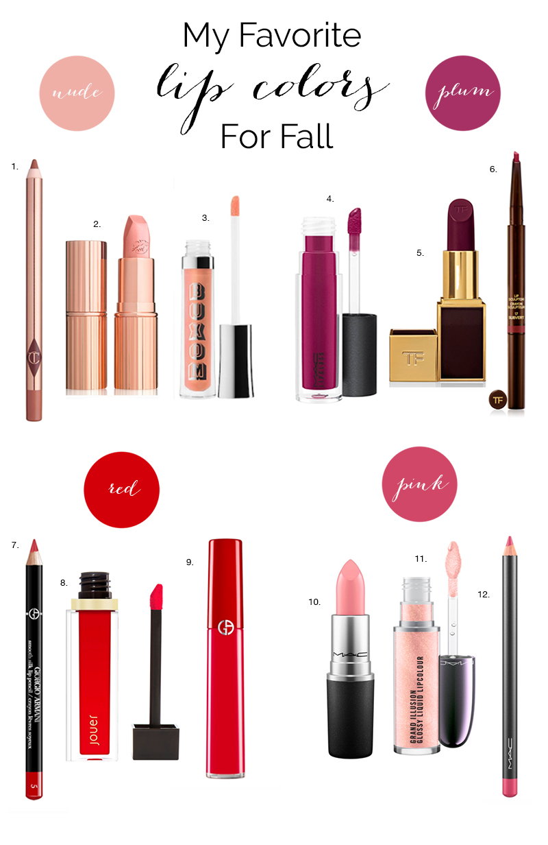 fall lip colors biggest trend