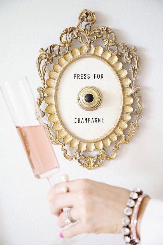 press for champagne button ringing buy online shop featured by popular life and style blogger, Style Elixir
