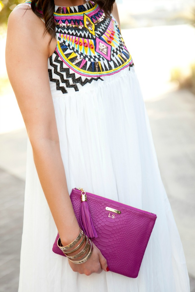White Maxi Dress featured by popular US fashion blogger Style Elixir