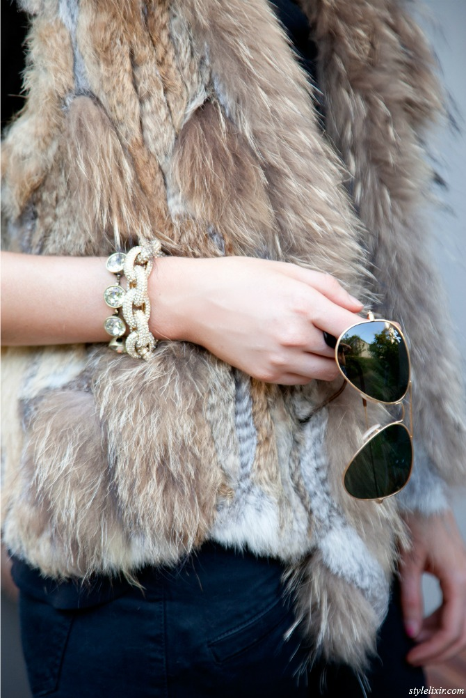 Fur Vest Outfit Idea fashion blogger pinterest style fall winter outfit 5