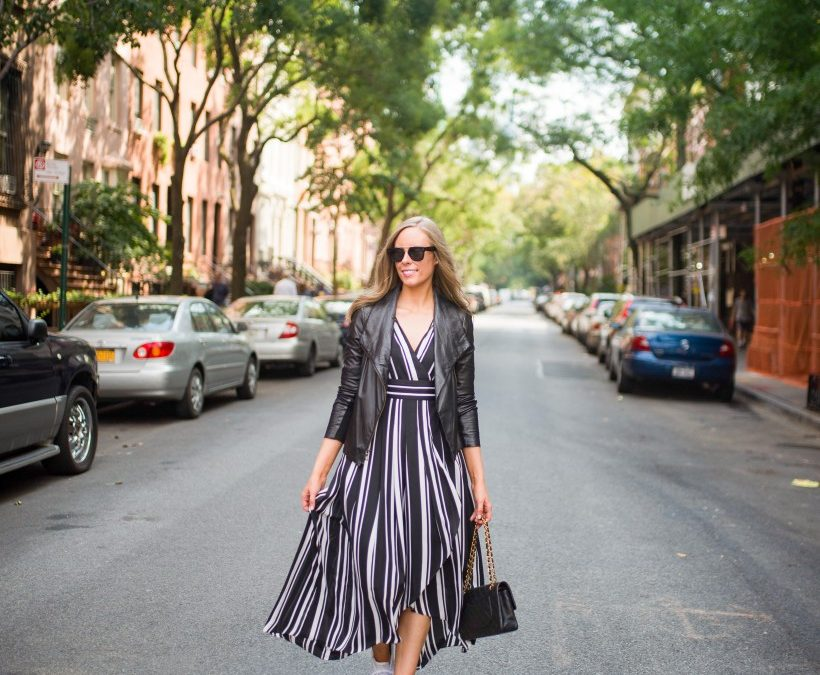 Style Sessions: How to Wear a Black and White Striped Dress for Fall