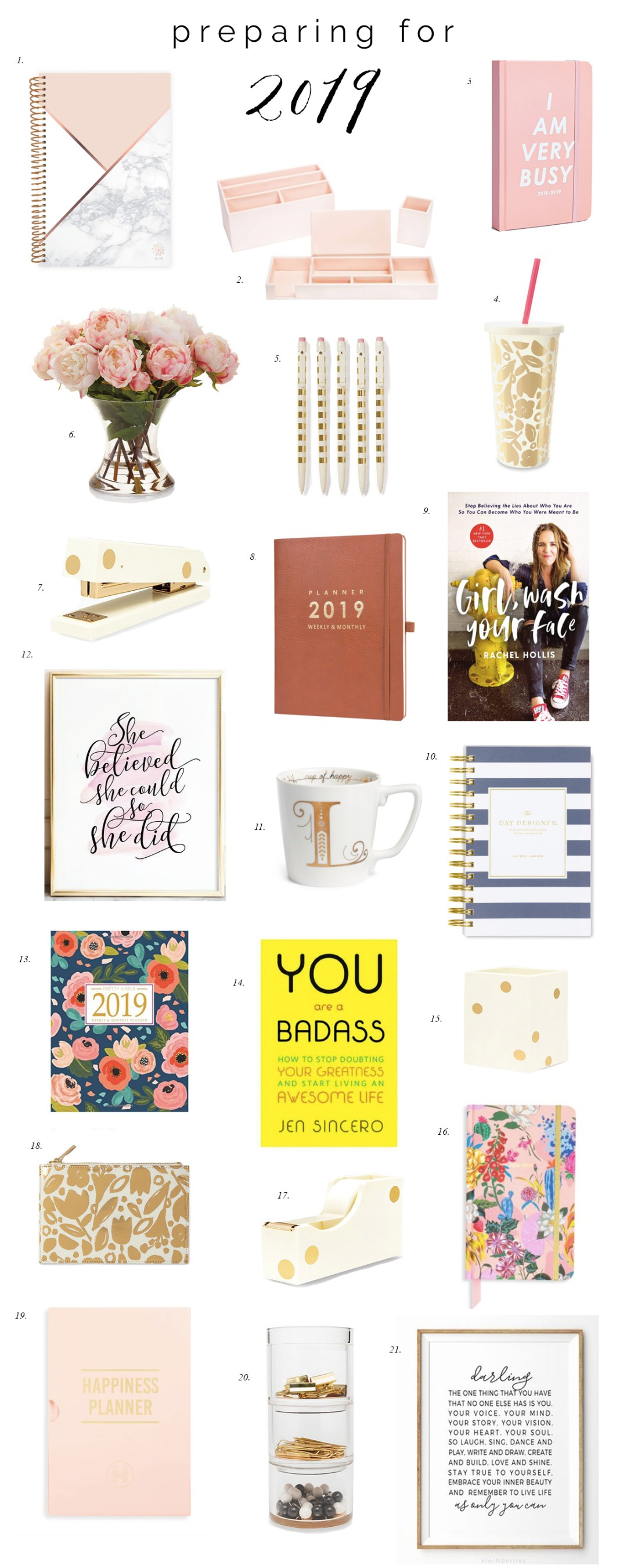 best 2019 planners and agendas for women girl boss inspirational quotes she believed she could so she did