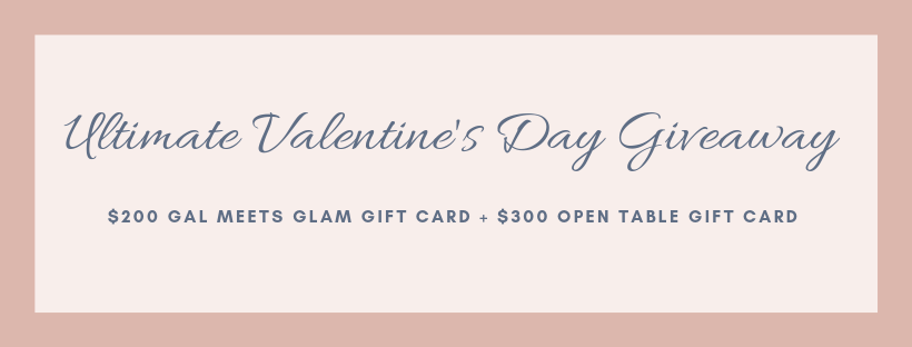 Valentines Day Gift Giveaway Gal Meets Glam dress win date night dinner