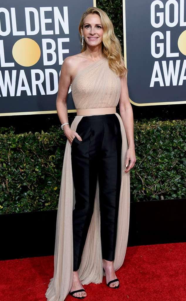 julia roberts 2019 golden globes outfit pantsuit