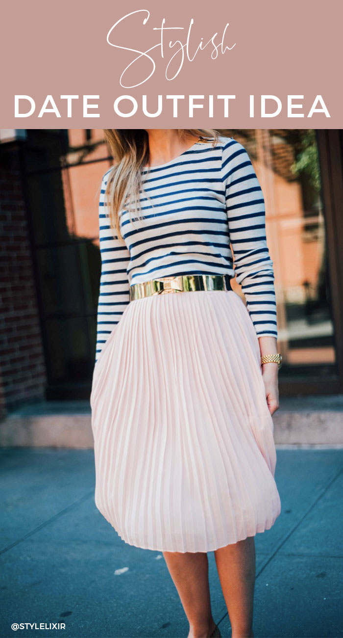 Date-Outfit-Idea-pinterest-fashion-blush-pink-skirt-stripe-top-style-blogger-outfits