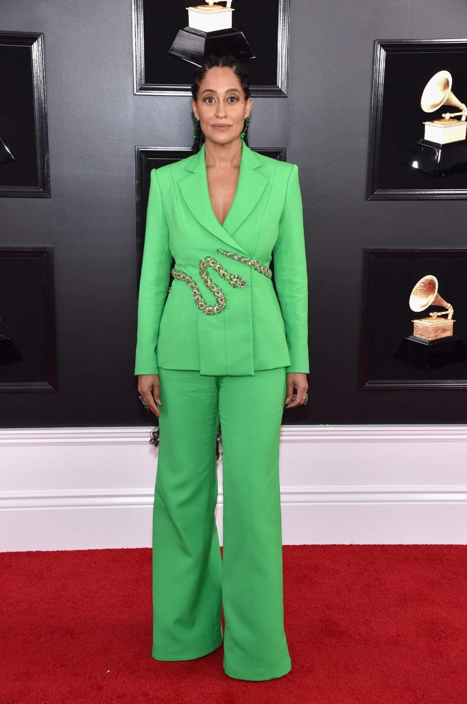 tracee ellis ross grammy's 2019 fashion red carpet