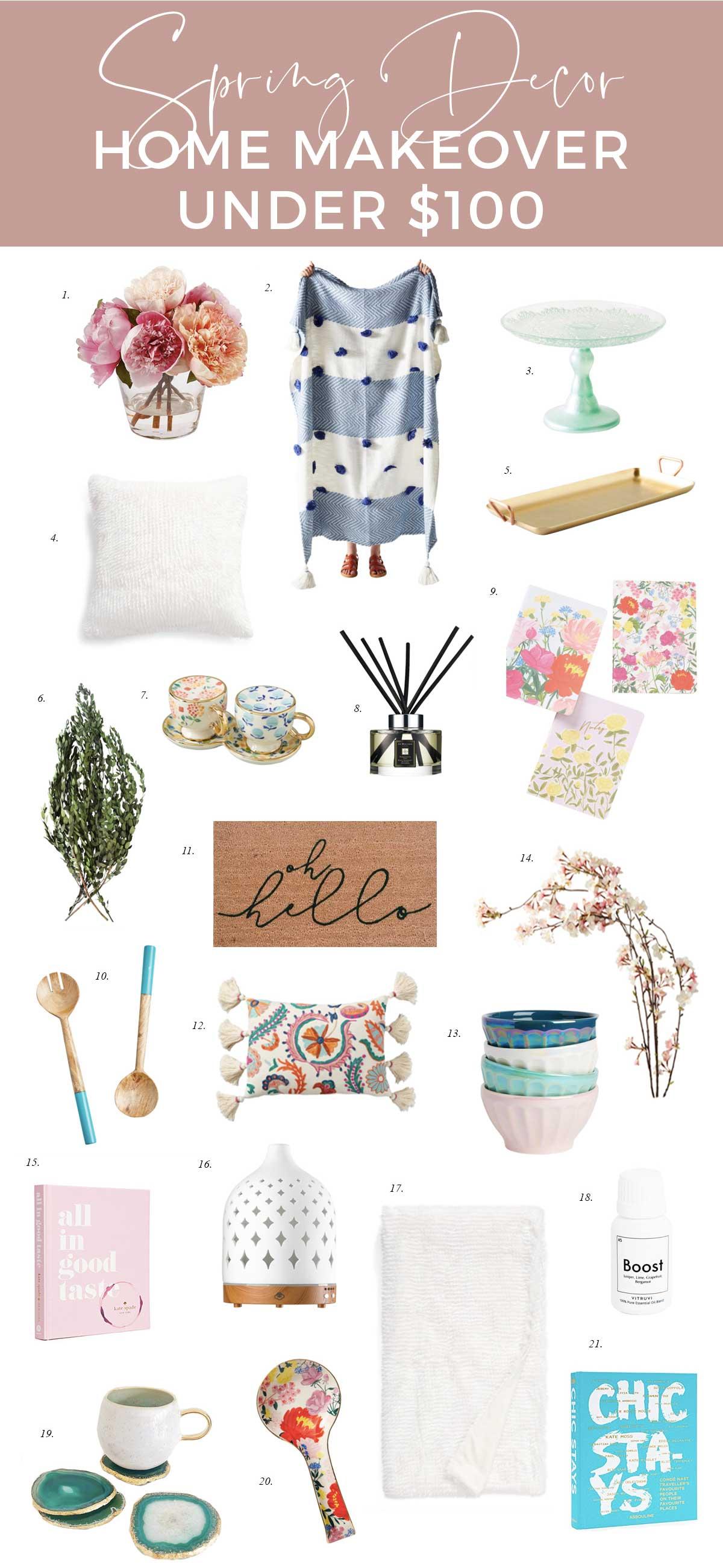 budget-home-makeover-tips-spring-decor-under-$100-oh-hello-door-mat-custom-boho-decor-spring-style