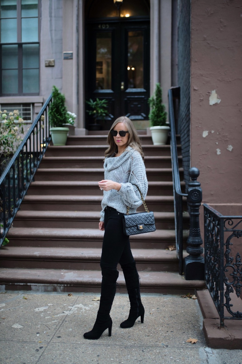 minimalist outfit style pinterest fashion ideas gray and black outfit blogger new york street style 1