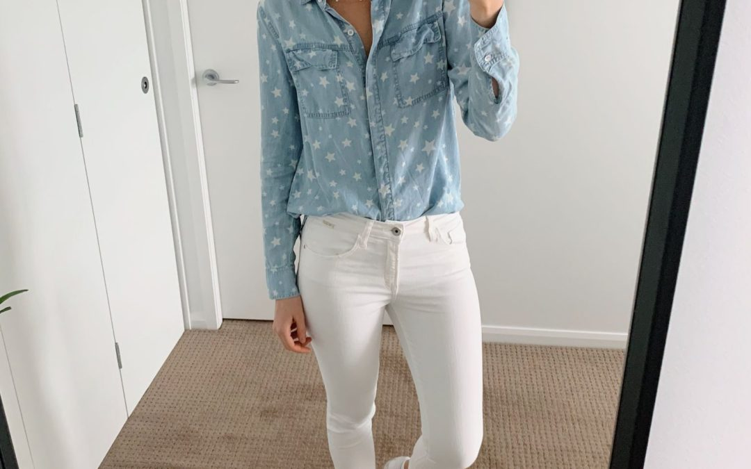 Style Sessions – Chambray Shirt and White Jeans Outfit