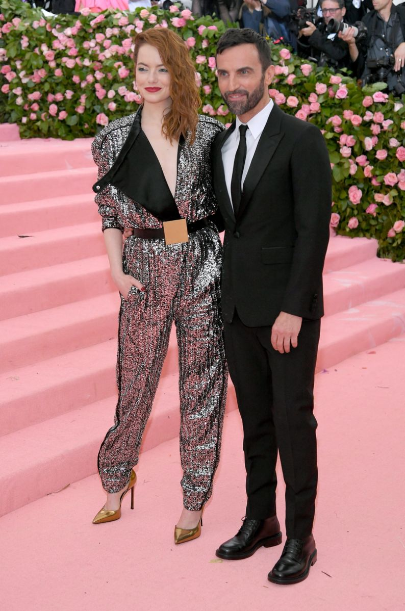 Emma Stone and Nicolas Ghesquière met gala 2019 fashion