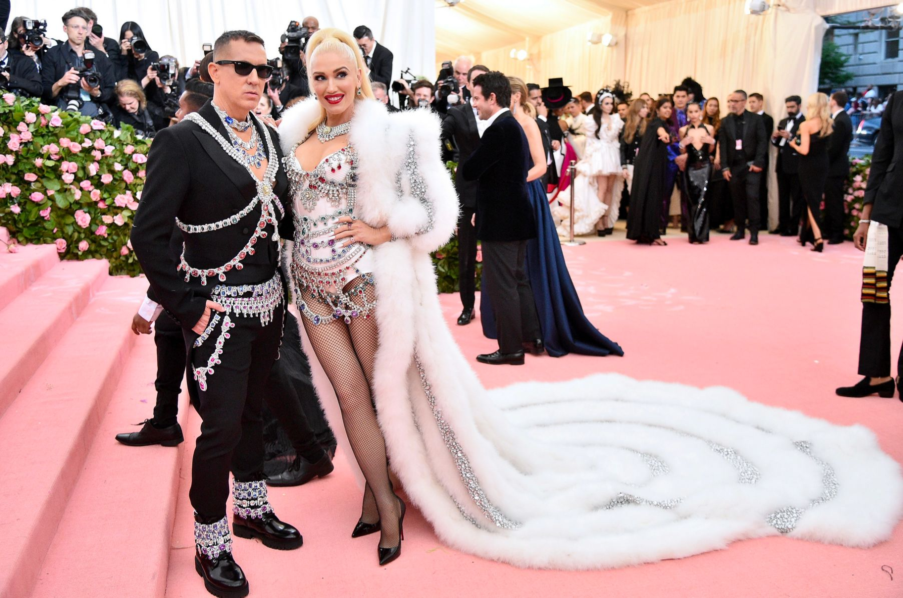 Jeremy Scott and Gwen Stefani with Christian Louboutin shoes met gala 2019 fashion