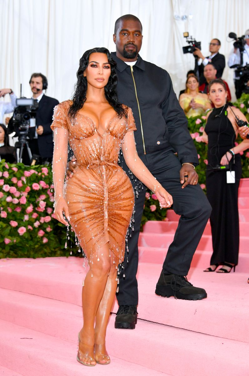 Kim Kardashian West and Kanye West met gala 2019 fashion red carpet