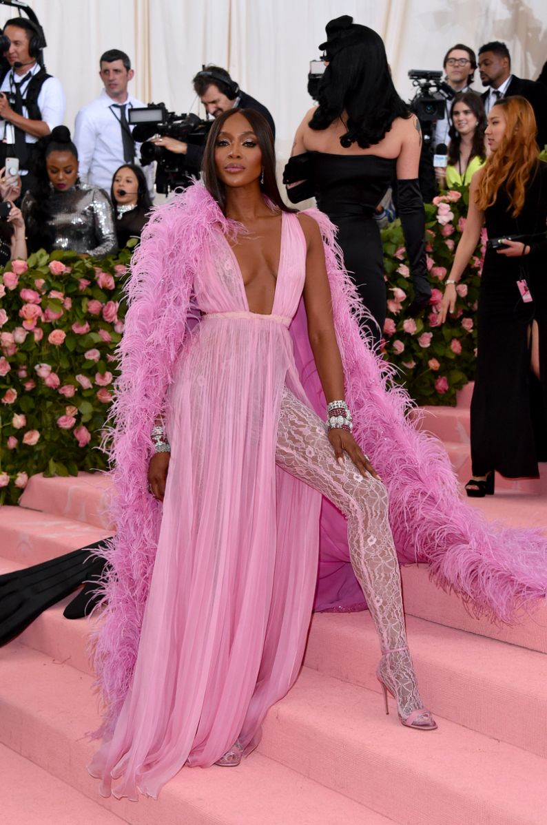 Naomi Campbell with Bulgari jewelry met gala 2019