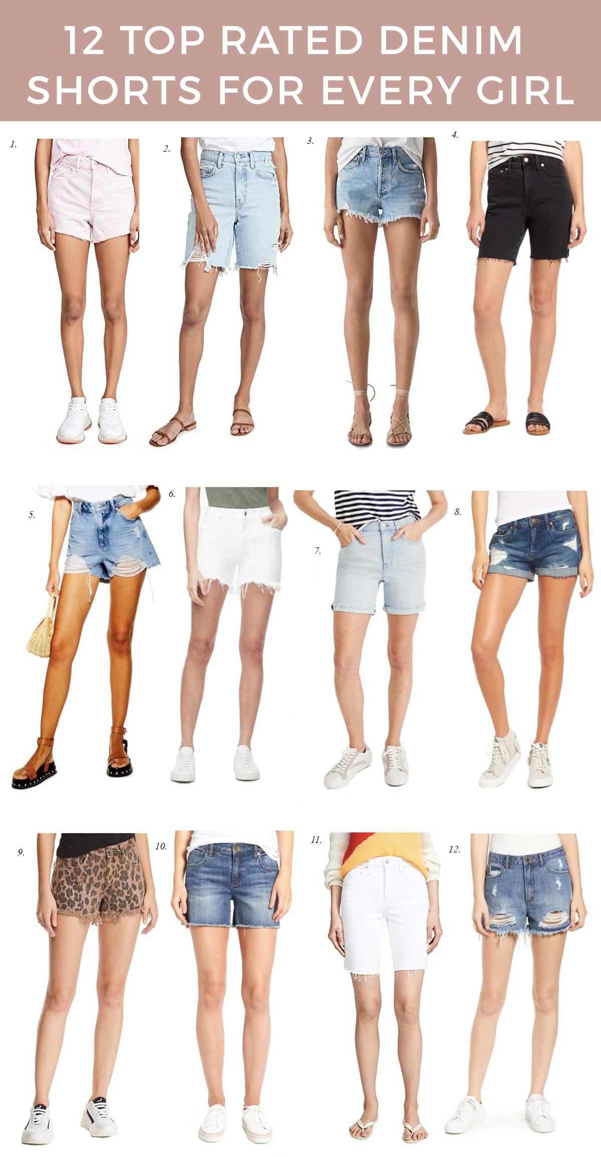 top-rated-denim-shorts-best-denim shorts-for-summer-white-denim-and-distressed-denim-shorts-nordstrom