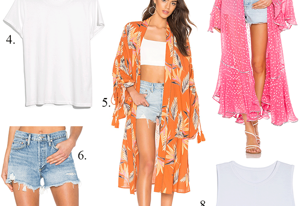 Friday Faves: Cool Girl Style – Denim Shorts and Kimono